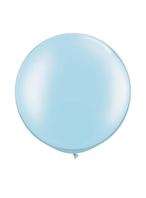 Óriás latex lufi - gyöngyház világoskék - héliummal töltve