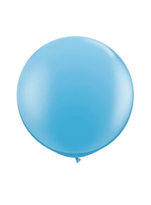 Óriás latex lufi - világoskék - héliummal töltve