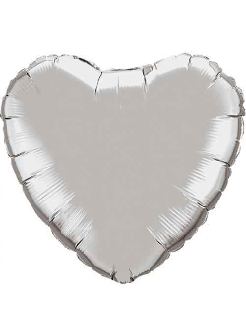 ezüst fólia szív